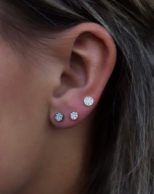 TRI-COLOR DISK STUD SET