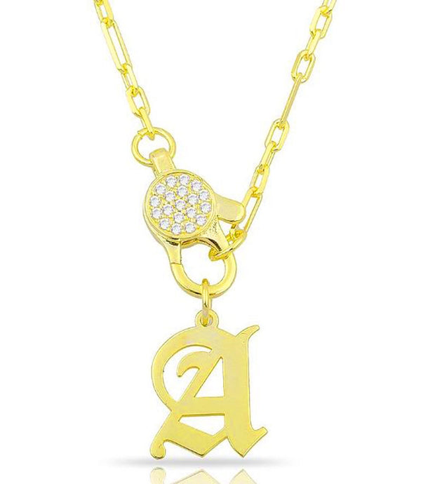 CLASP CHAIN INITIAL NECKLACE