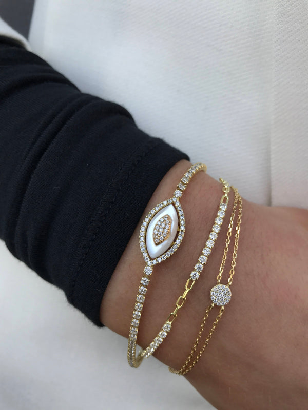 MINI CHAIN TENNIS BRACELET
