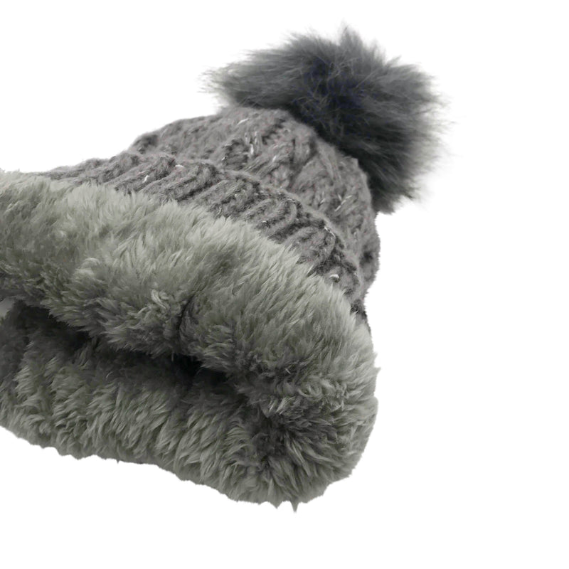 SPECKLED POM HAT