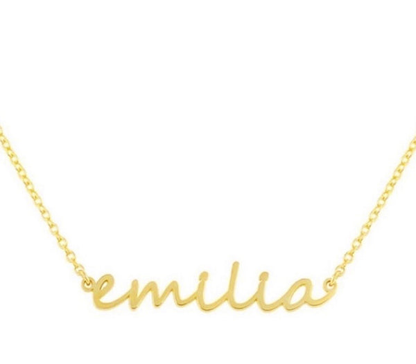 DAINTY SCRIPT NECKLACE