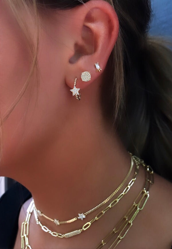 STAR MINI HOOP EARRINGS