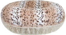Bagel Bed -  Aspen Snow Leopard and Natural Beauty
