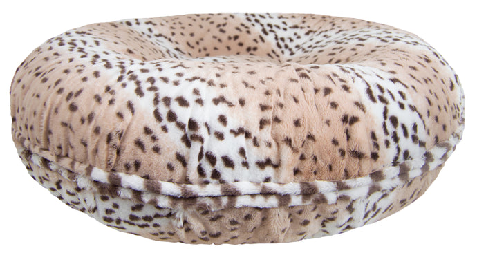 Bagel Bed - Aspen Snow Leopard