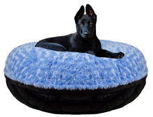 Bagel Bed - Blue Sky and Black Puma
