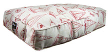 Outdoor Sicilian Rectangle Bed - Red Sail Boat
