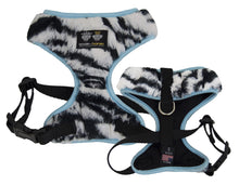 Mesh Comfort Dog Harness with Cover- Black / Baby Blue / Zebra