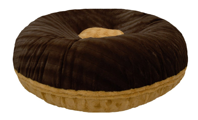 Bagel Bed With Patch - Godiva Brown and Honeymoon