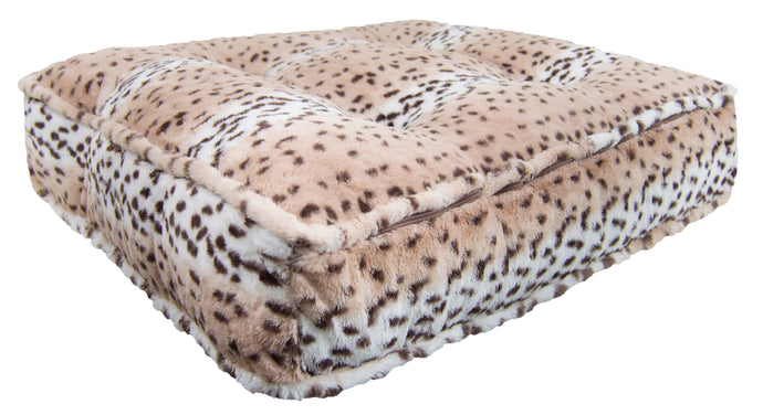 Sicilian Rectangle Bed - Aspen Snow Leopard