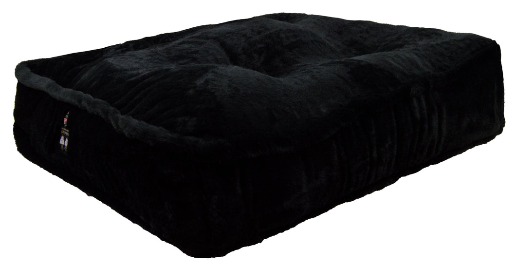 Sicilian Rectangle Bed - Short Shag Black Panther