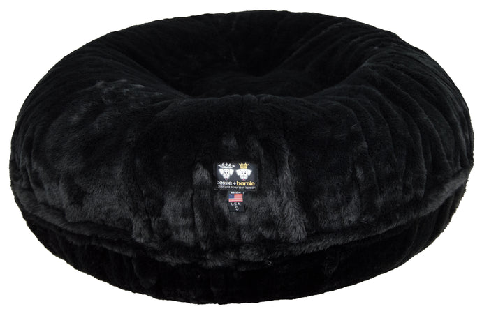 Bagel Bed - Short Shag Black Panther