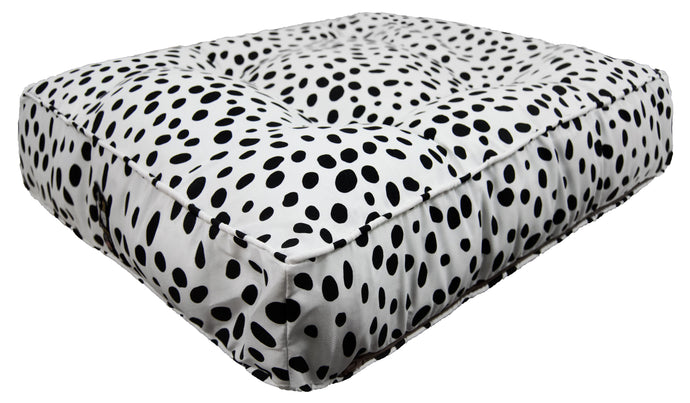 Outdoor Rectangle Bed - Black Polka Dot