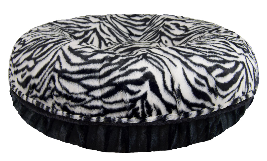 Bagel Bed - Black Puma and Zebra