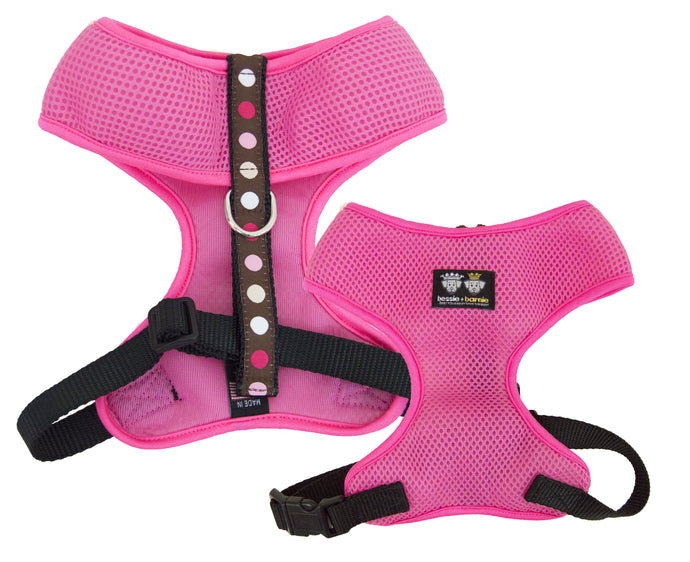Air Comfort Dog Harness-  Blushing Dots / Hot Pink / Pink Comfort