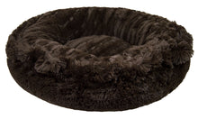 Bagelette Bed - Godiva Brown and Grizzly Bear