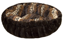 Bagelette Bed - Godiva Brown and Wild Kingdom
