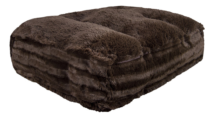 Sicilian Rectangle Bed - Grizzly Bear and Godiva Brown