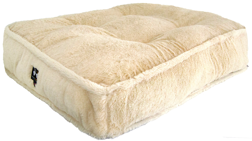 Sicilian Rectangle Bed - Mid Shag Natural Husky