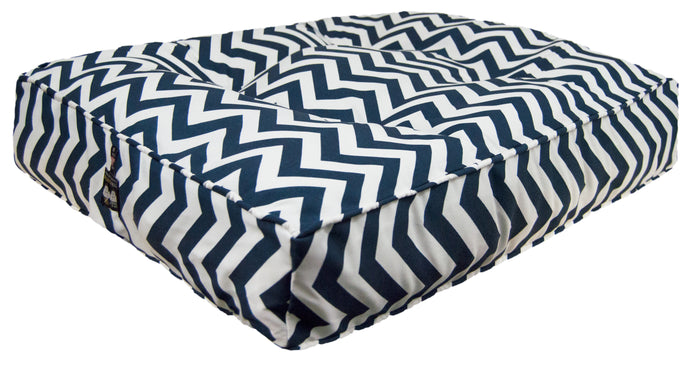 Outdoor Rectangle Bed - Navy Wave