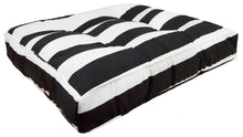 Outdoor Rectangle Bed - Panda Stripes