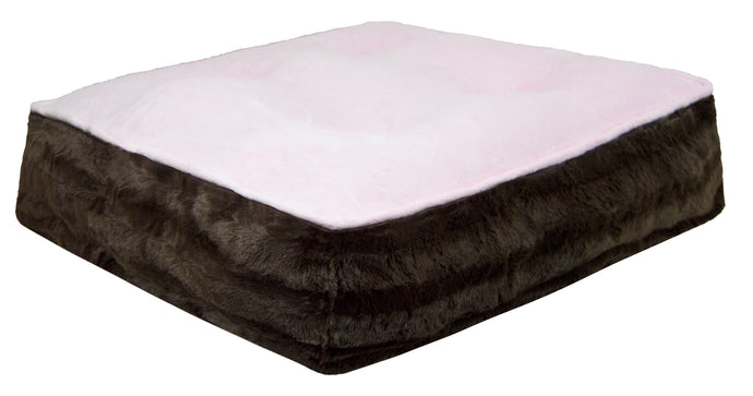 Sicilian Rectangle Bed -Pink Lotus and Godiva Brown