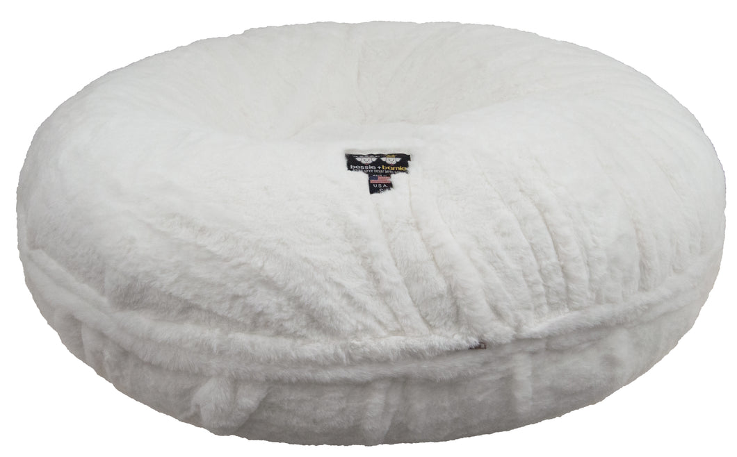 Bagel Bed - Short Shag Polar Bear