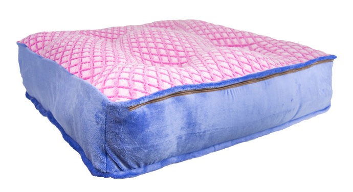 Sicilian Rectangle Bed - Periwinkle and Pink It Fence