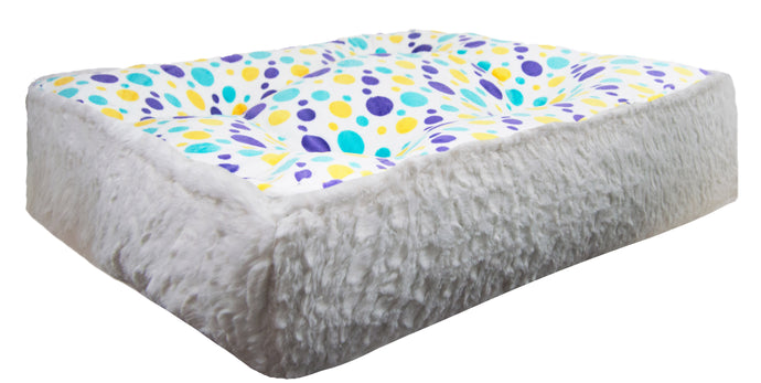 Sicilian Rectangle Bed - Vanilla Pop and Serenity White