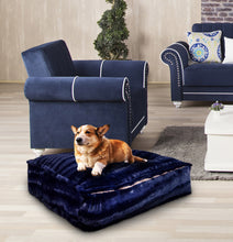 Sicilian Rectangle Bed - Midnight Blue