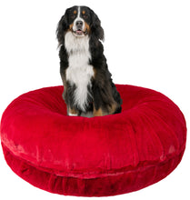 Bagel Bed - Short Shag Red Rabbit