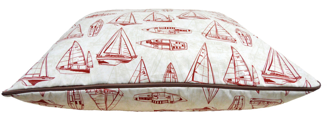 Outdoor Bubba Bed - Red Sailboat