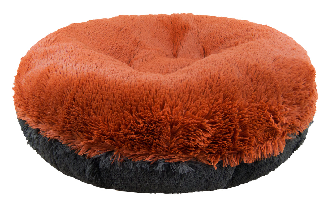 Bagel Bed -  Rustic Brick and Wolfhound Grey