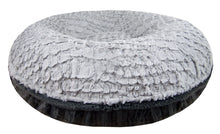Bagel Bed -  Serenity Grey and Gravel Stone