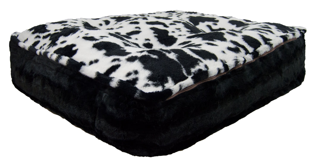 Sicilian Rectangle Bed -Spotted Pony and Black Puma