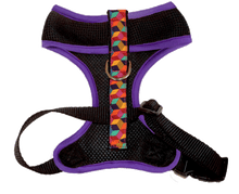 Air Comfort Dog Harness-  Rainbow Block / Purple / Black Comfort