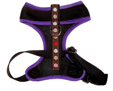 Air Comfort Dog Harness- Blushing Dots / Purple / Black Comfort