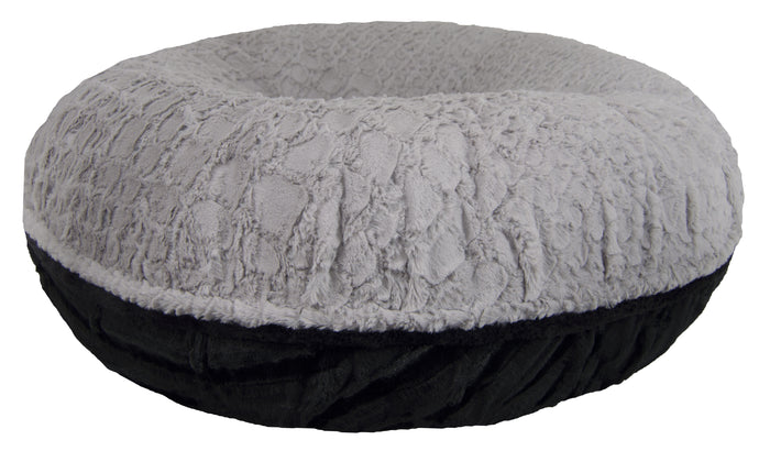 Bagel Bed - Serenity Grey and Black Puma