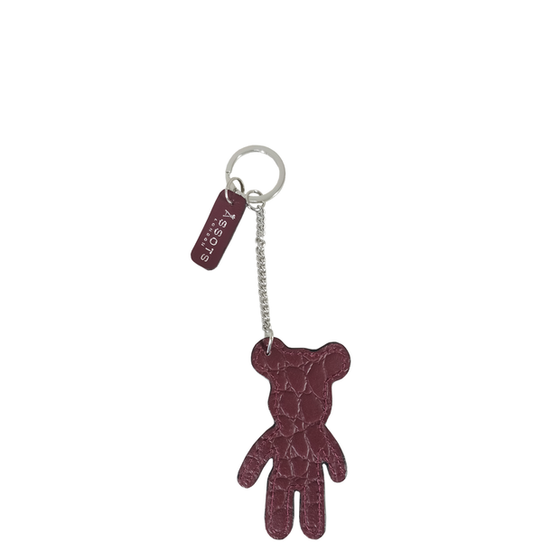 'TEDDY' Super Cute Croc Leather Key Ring Holder