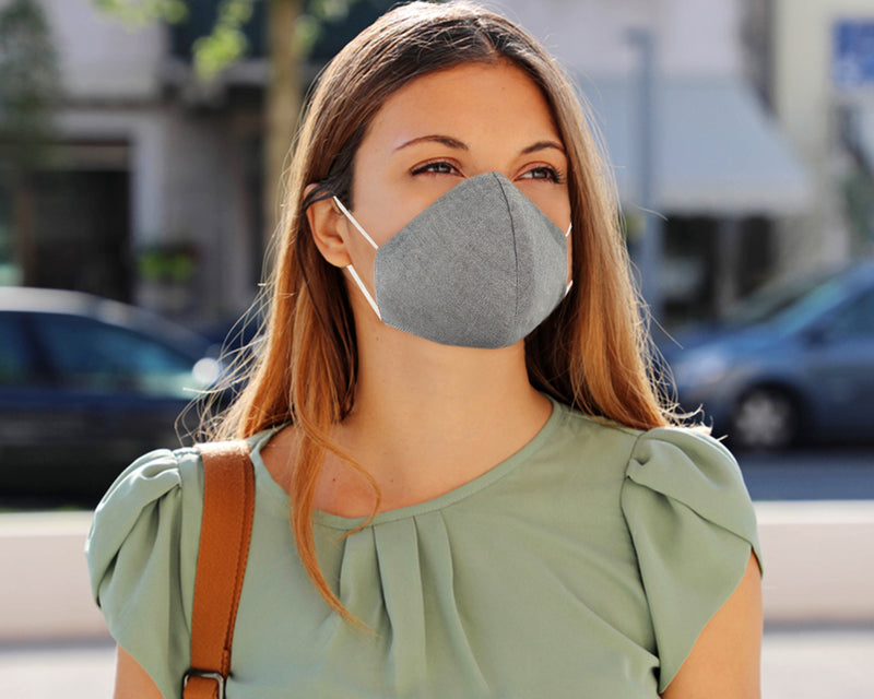 Pack of 3 Pure Cotton 4-layer Protective Premium Unisex Washable Grey Face Mask