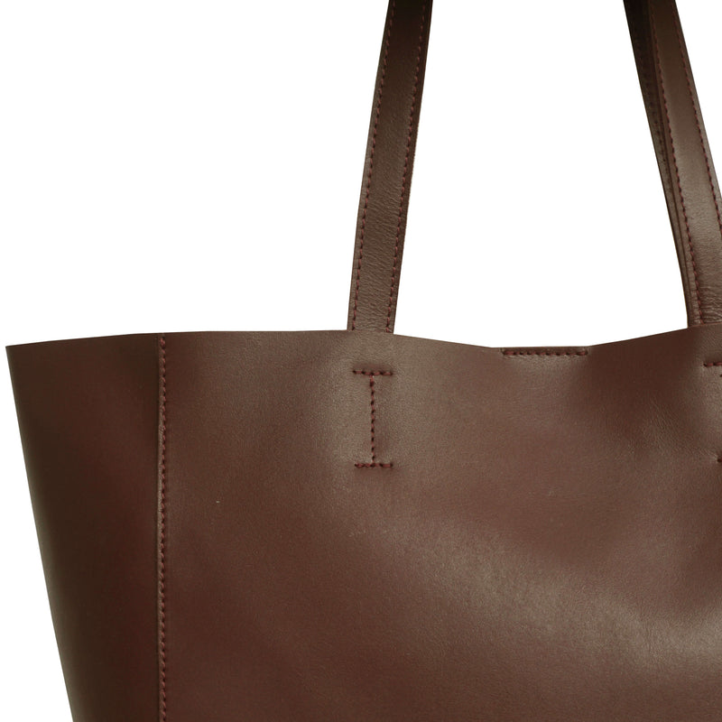 'ABINGDON' Tan Real Leather Unlined Designer Tote Bag
