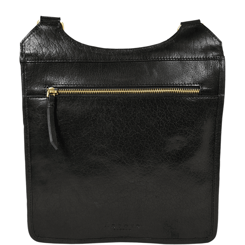 'LILY' - Black Vintage Leather Shoulder Sling Bag