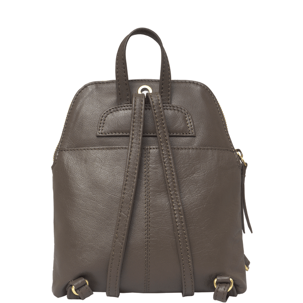 'BELLA' - Mokka Brown Mini Leather Lightweight Backpack