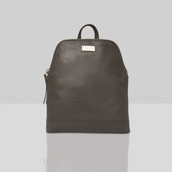 'BELLA' Mokka Brown Mini Leather Lightweight Backpack