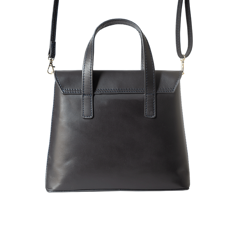 'Bentley' Navy Smooth Leather Mini Grab Bag