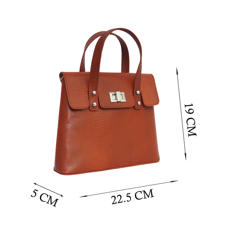 'Bentley' Red Lizard Designer Leather Mini Grab Bag