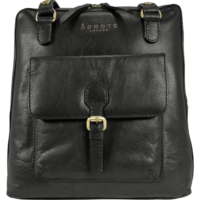 'BRENT' - Black Vintage Leather Backpack