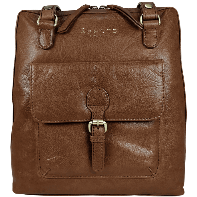 'BRENT' - Tan Vintage Leather Backpack