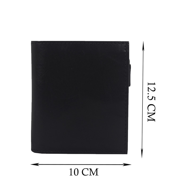 'CADE' Black Vintage Leather RFID Blocking Wallet