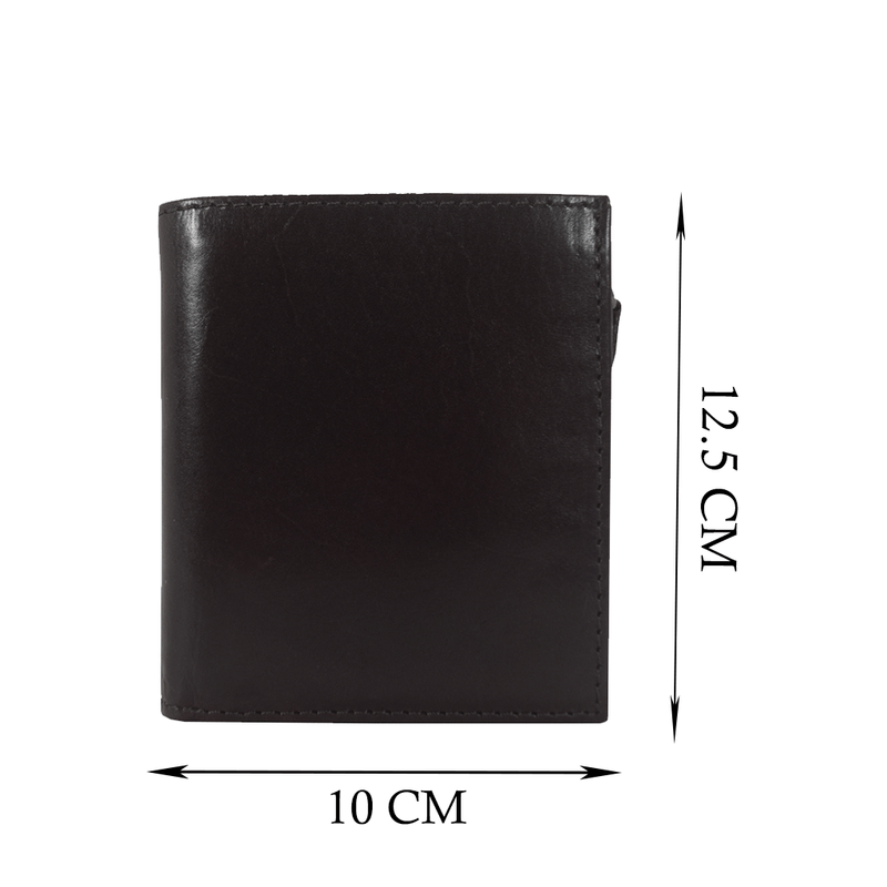 'CADE' Dark Brown Vintage Leather RFID Blocking Wallet