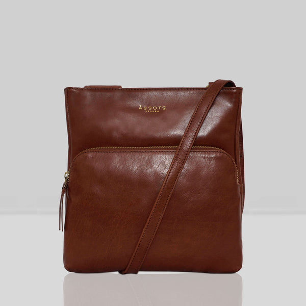 'CANARY' Brown Vintage Leather Crossbody bag